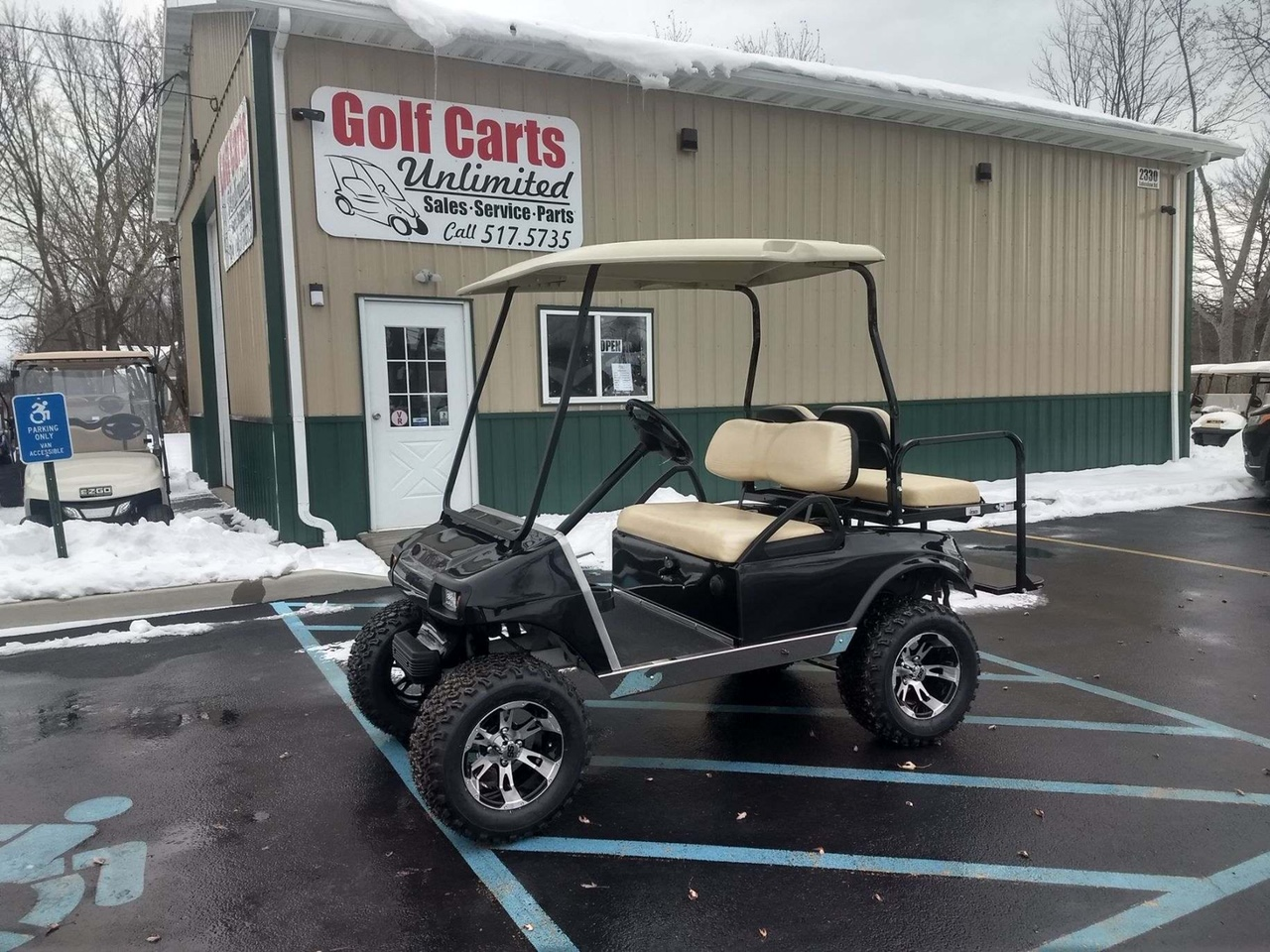 2012 Club Car DS Black Lifted Gas Cart