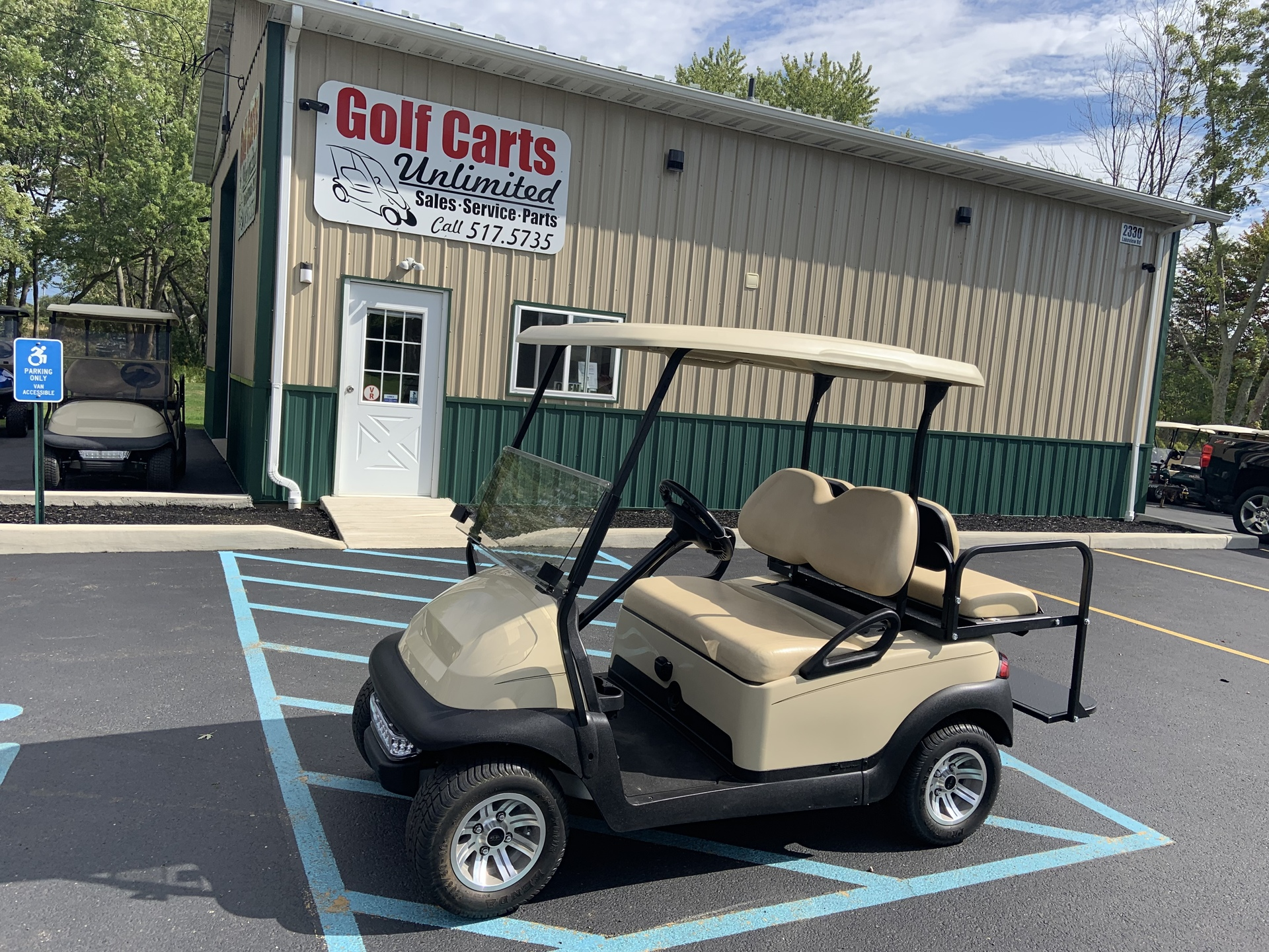 2014 Club Car Precedent Tan Champion Electric Cart
