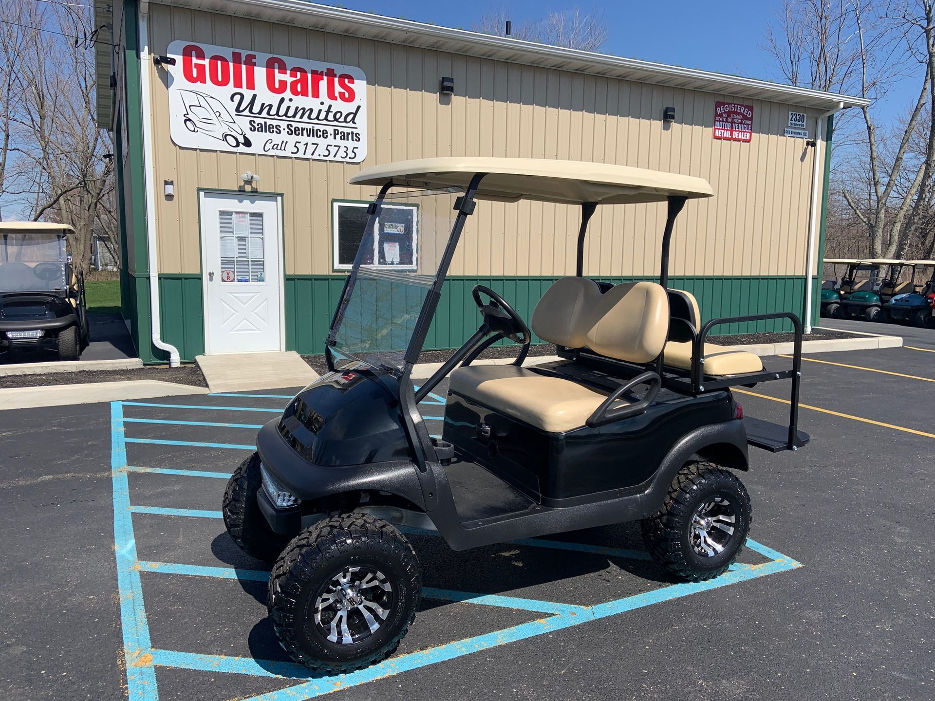 2015 Club Car Precedent Black Electric lifted golf cart