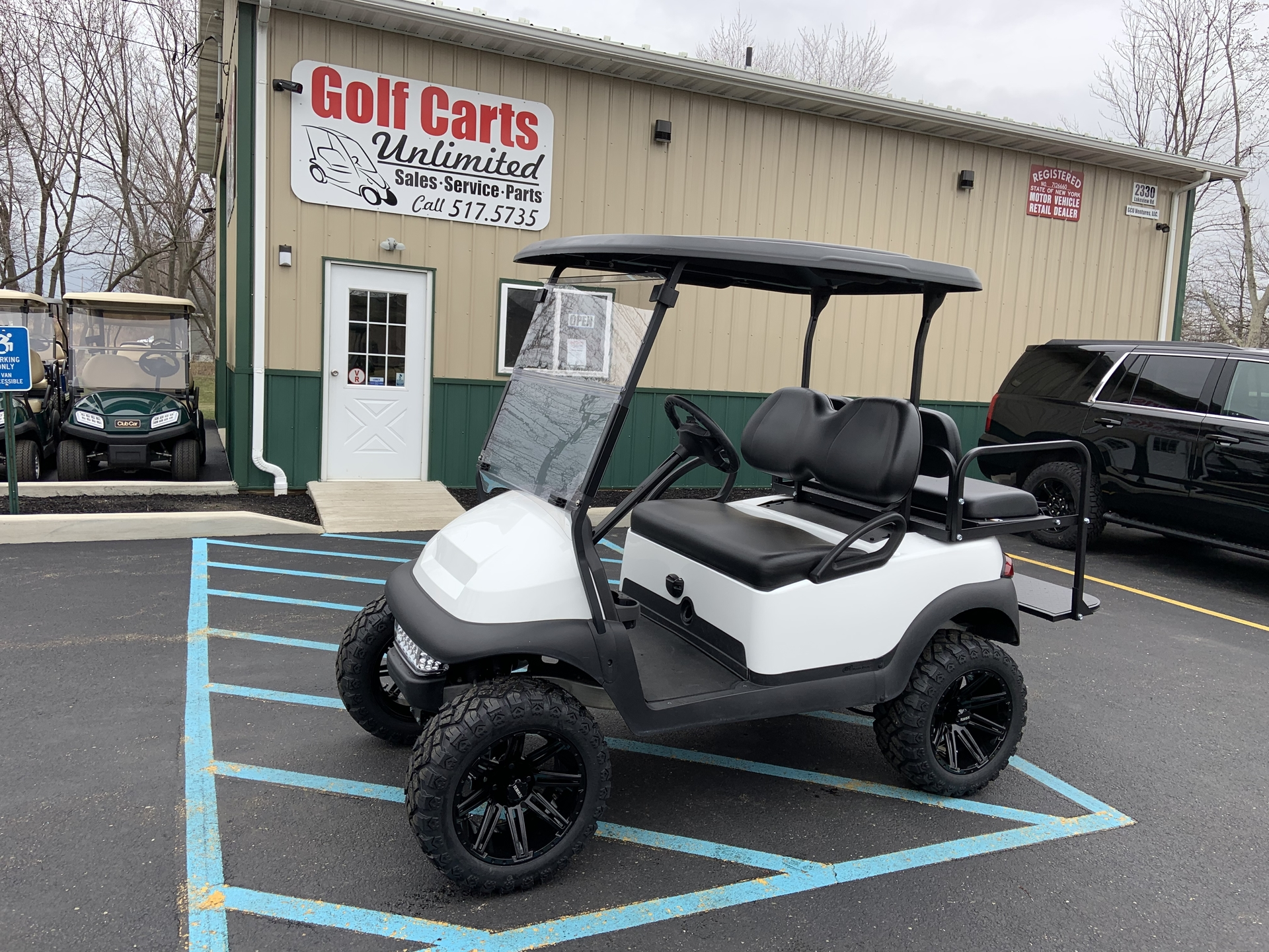 2015 Club Car Precedent White Lifted Electric cart
