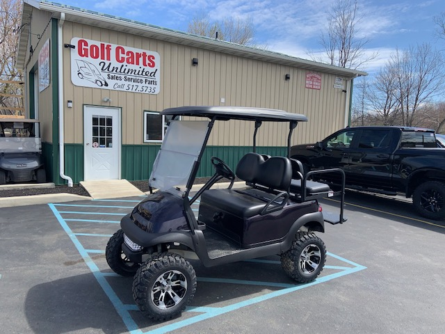 2015 Club Car Precedent Gas Custom Purple Lifted Golf Cart