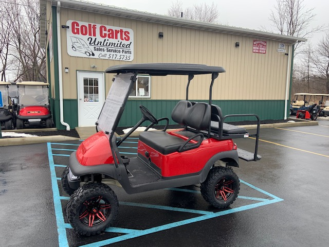 2016 Club Car Precedent Custom Red Lifted