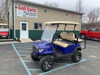2016 Club Car Precedent Blue Lifted Golf Cart