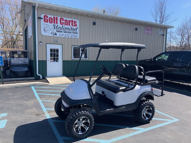2016 Club Car Precedent White Lifted Electric