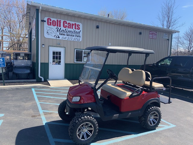 2020 Club Car Tempo Red Lifted Gas
