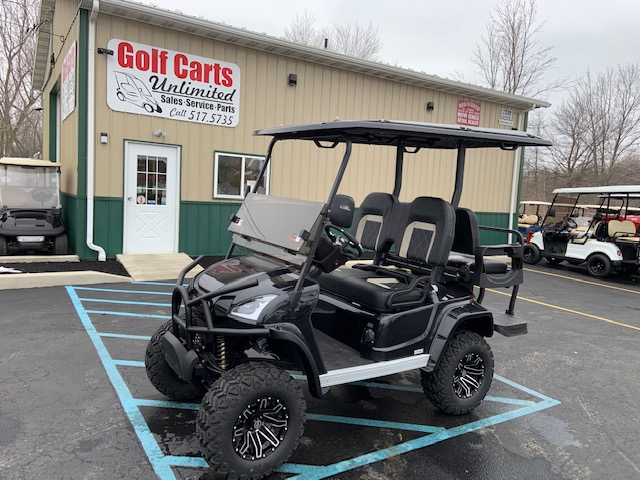 2021 STAR EV Sirius Black Lifted Golf Cart