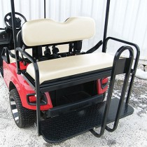 EZGO TXT 96 and up Flip Seat kit, Steel - Oyster