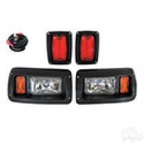Club Car DS Complete Adjustable Light Kit, Halogen Bulbs, 1993 and up