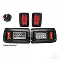 Club Car DS Complete Adjustable Light Kit, LED Bulbs 93 and up, 12-24V