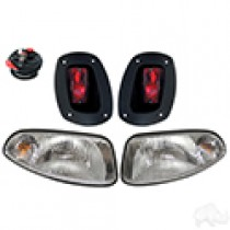 EZGO RXV 08-15 Factory Style Light Kit, Halogen Bulbs