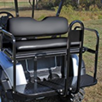 EZGO RXV Flip Seat Kit, Steel - Black