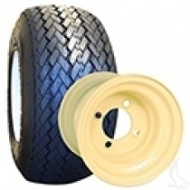 RHOX Golf DOT Mounted on 8x7 Beige Steel Wheel