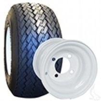 RHOX Golf DOT Mounted on 8x7 White Steel Wheel