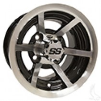 Wheel ITP SS6, Machined Black 10x7, 3 to 4 offset