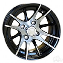 Wheel RHOX RX101 12 Spoke, Machined with Black 12x7 ET-25