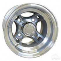 RHOX Brickyard, Machined 8x7, ET-27, 4 spoke Aluminum Wheel