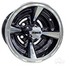 Wheel RHOX RX145, Machined with Gloss Black 10x7, ET-25