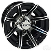 Wheel RHOX RX150, 8 Spoke Machined with Gloss Black 10x7, ET-22
