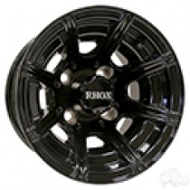 Wheel RHOX RX151 8 Spoke Gloss Black 10x7, ET-22