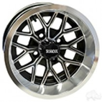 Wheel RHOX RX283 Machined Gloss Black 12x7, ET-25