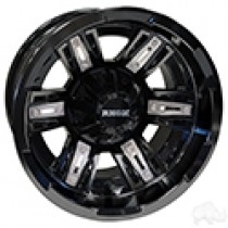 Wheel RHOX RX286 Gloss Black with Silver Insert 12x7, ET-25