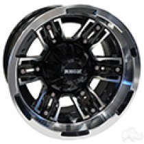 Wheel RHOX RX286, Machined Gloss Black with Gloss Black Insert 12x7, ET-25