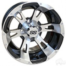 Wheel RHOX RX320, Machined with Gloss Black 12x7, ET-25